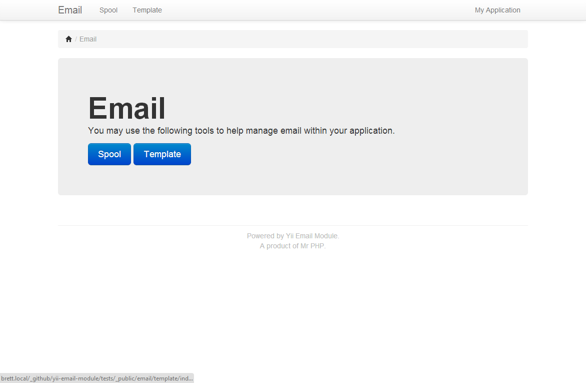 Yii Email Module